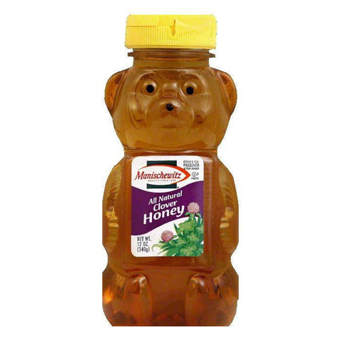 Manischewitz Clover Honey Squeeze Bear, 12 OZ (Pack of 12)