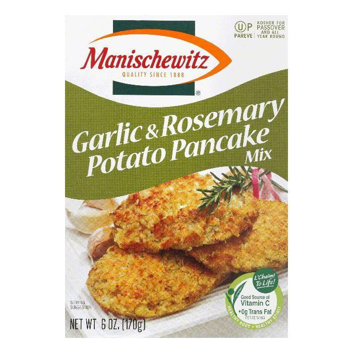 Manischewitz Garlic & Rosemary Potato Pancake Mix, 6 Oz (Pack of 12)