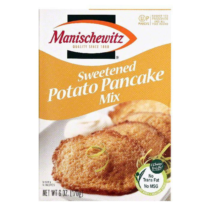 Manischewitz Sweetened Potato Pancake Mix, 6 OZ (Pack of 6)