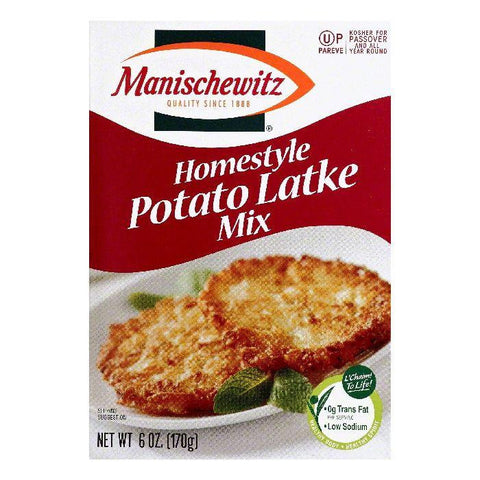 Manischewitz Homestyle Potato Latke Mix, 6 OZ (Pack of 6)