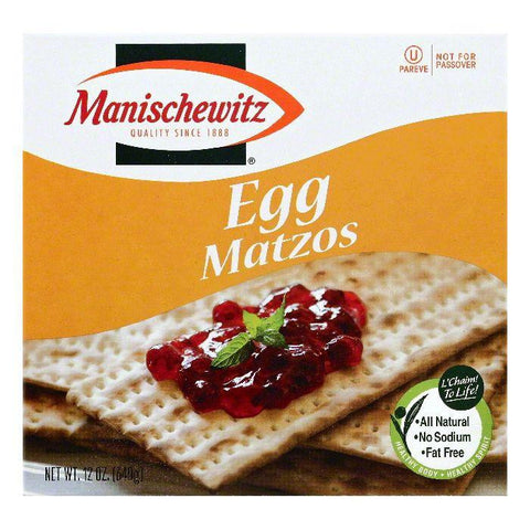 Manischewitz Egg Matzos, 12 OZ (Pack of 12)