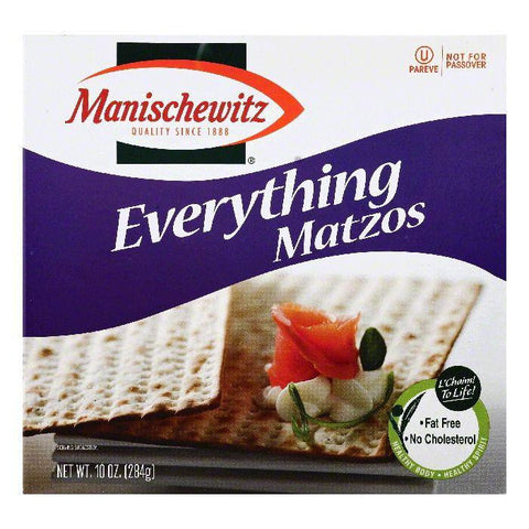 Manischewitz Everything Matzos, 10 OZ (Pack of 12)