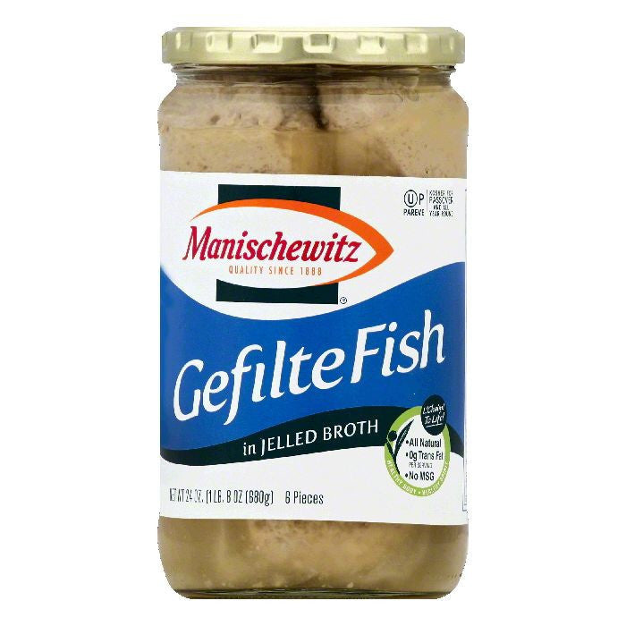 Manischewitz in Jelled Broth Gefilte Fish, 6 ea (Pack of 6)