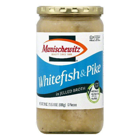 Manischewitz in Jelled Broth Whitefish & Pike, 6 ea (Pack of 6)