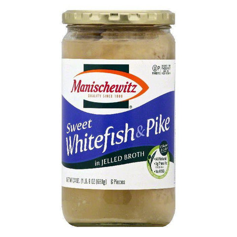 Manischewitz in Jelled Broth Sweet Whitefish & Pike, 6 ea (Pack of 6)