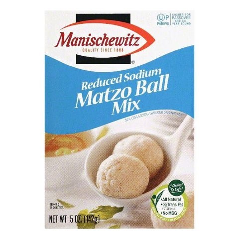 Manischewitz Reduced Sodium Matzo Ball Mix, 5 OZ (Pack of 12)