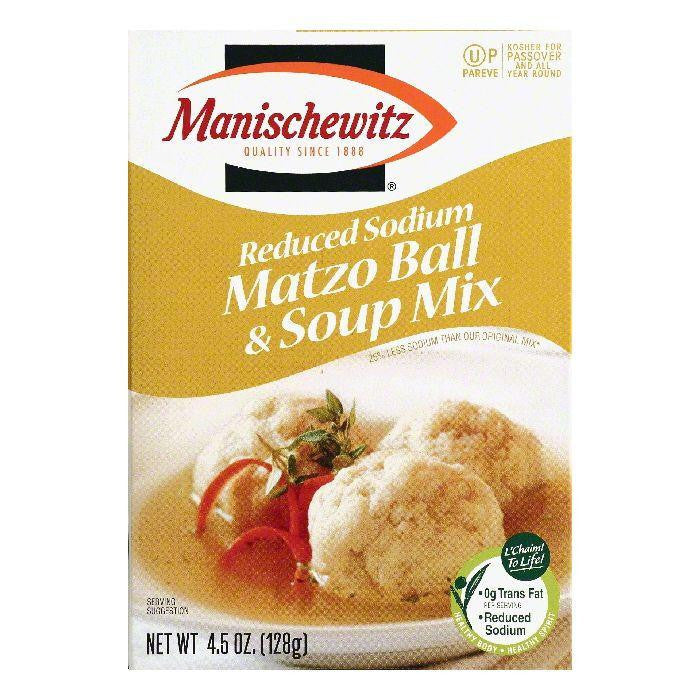 Manischewitz Reduced Sodium Matzo Ball & Soup Mix, 4.5 OZ (Pack of 12)