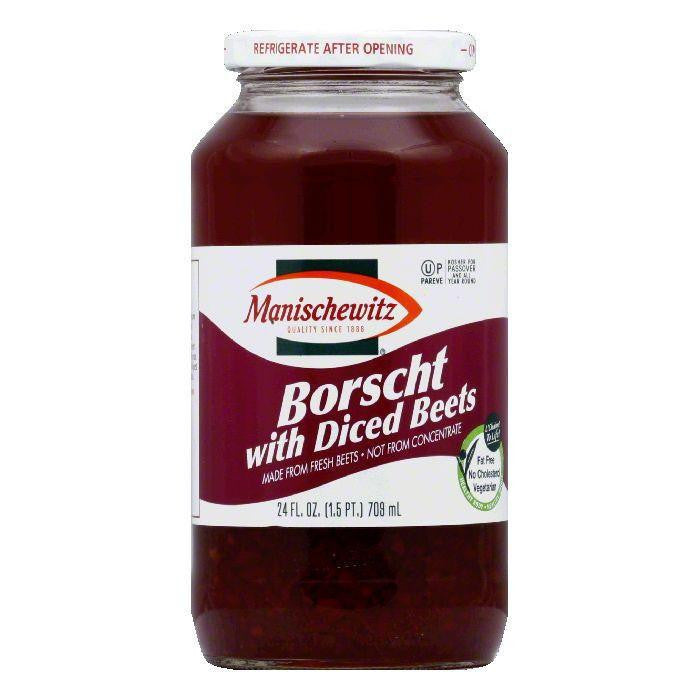 Manischewitz Borscht with Shredded Beets, 24 OZ (Pack of 12)