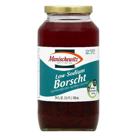 Manischewitz Low Sodium Borscht, 24 OZ (Pack of 12)