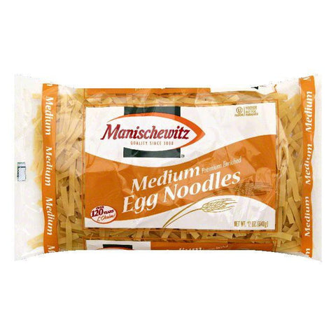 Manischewitz Medium Egg Noodles, 12 OZ (Pack of 12)
