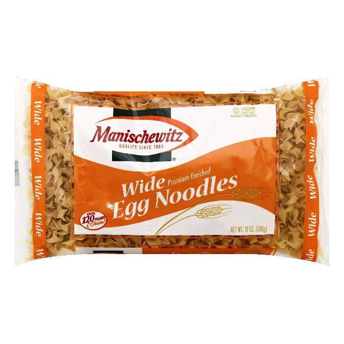 Manischewitz Wide Egg Noodles, 12 OZ (Pack of 12)