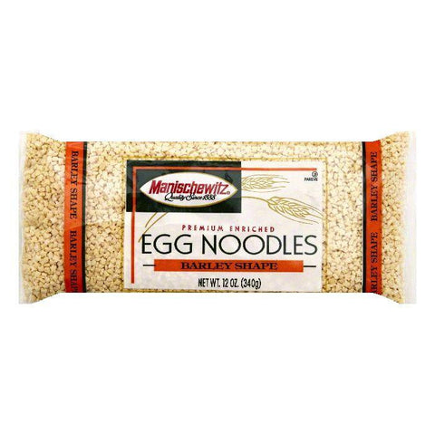 Manischewitz Barley Shape Egg Noodles, 12 OZ (Pack of 12)