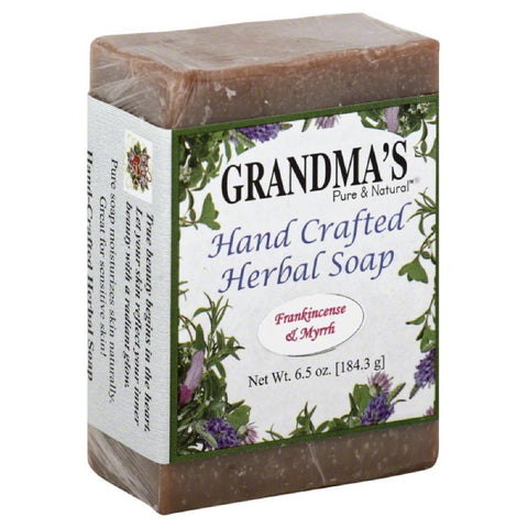 Grandmas Pure & Natural Frankincense & Myrrh Hand Crafted Herbal Soap, 6 Oz