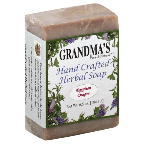 Grandmas Pure & Natural Egyptian Dragon Hand Crafted Herbal Soap, 6 Oz