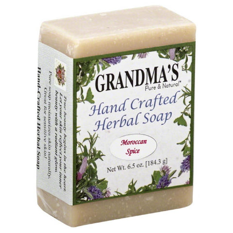 Grandmas Pure & Natural Moroccan Spice Hand Crafted Herbal Soap, 6 Oz