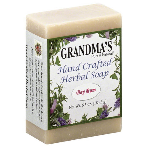 Grandmas Pure & Natural Bay Rum Hand Crafted Herbal Soap, 6 Oz