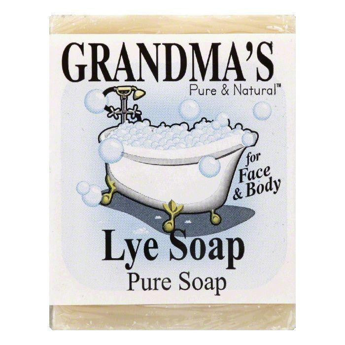 Grandmas Pure & Natural Pure Lye Soap, 6 Oz