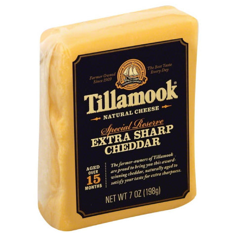 Tillamook Extra Sharp Cheddar Special Reserve Natural Cheese, 7 Oz (Pack of 12)