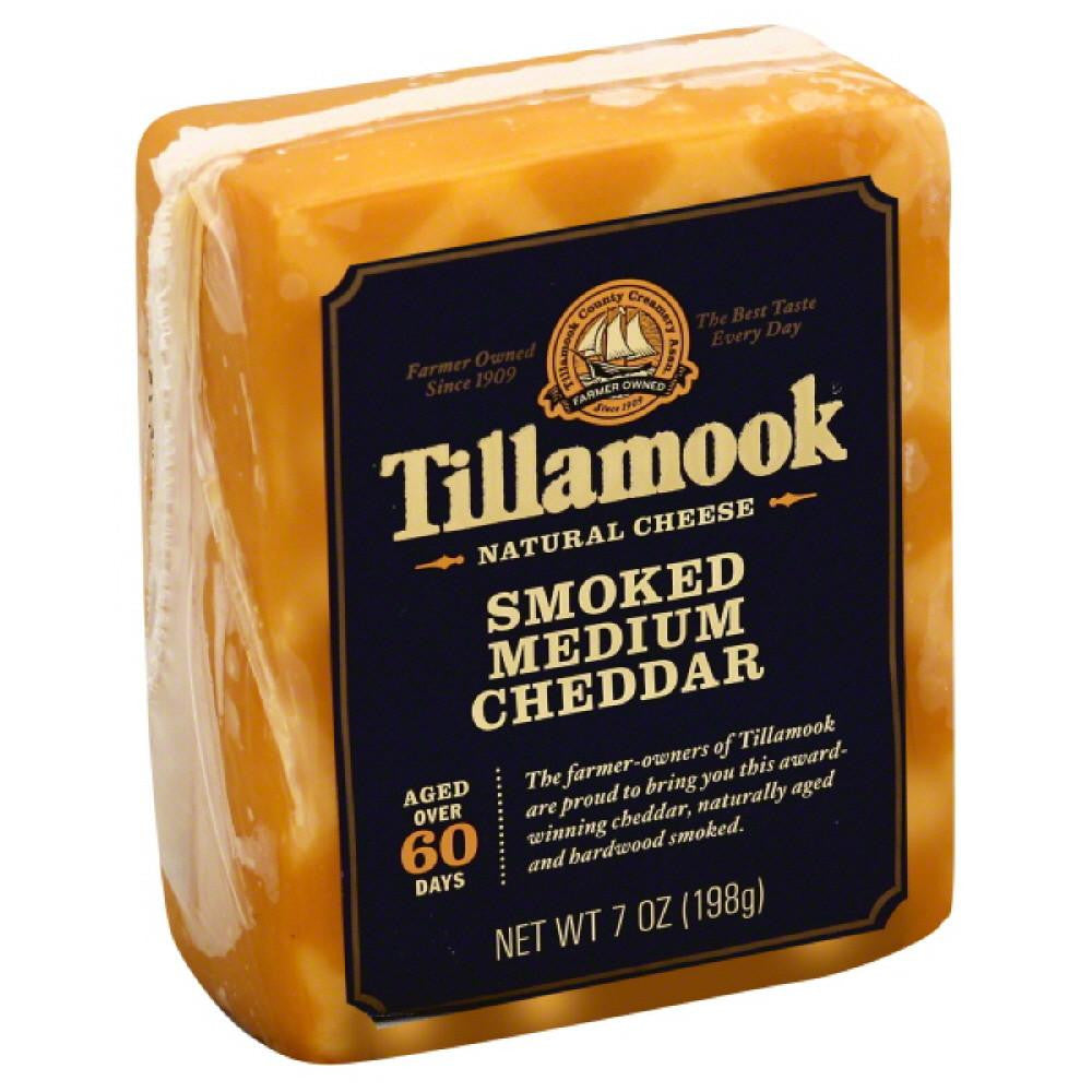 Tillamook Smoked Medium Cheddar Natural Cheese, 7 Oz (Pack of 12)