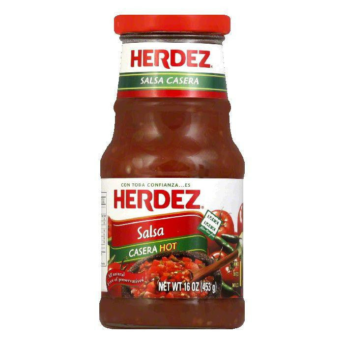 Herdez Salsa Casera Hot, 16 OZ (Pack of 6)