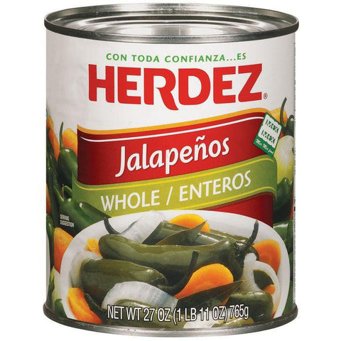 Herdez Whole Jalapenos 27 Oz (Pack of 12)