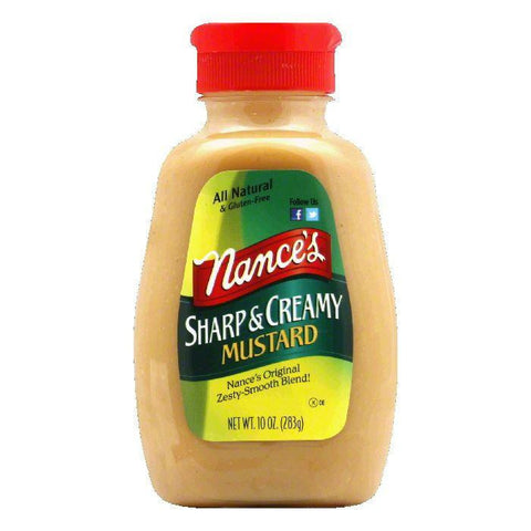 Nance's Mustard Sharp & Creamy, 10 OZ (Pack of 6)