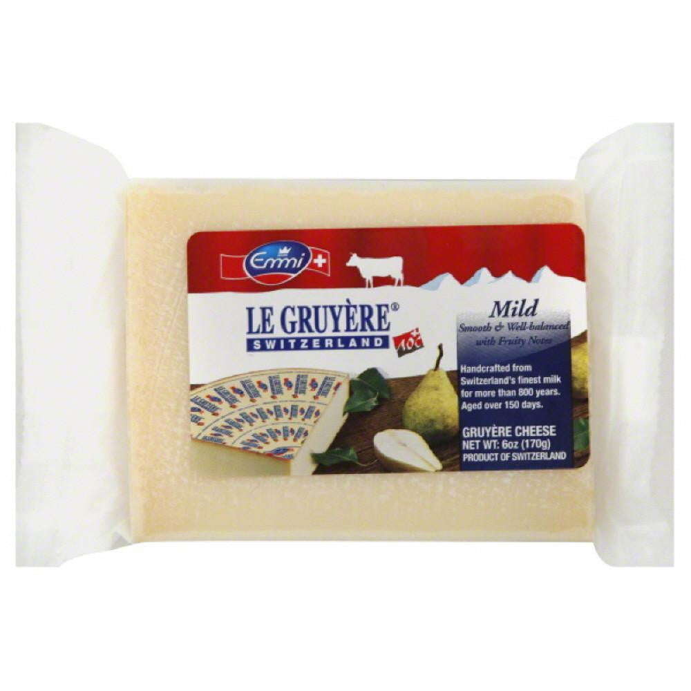Emmi Mild Gruyere Cheese, 6 Oz (Pack of 16)