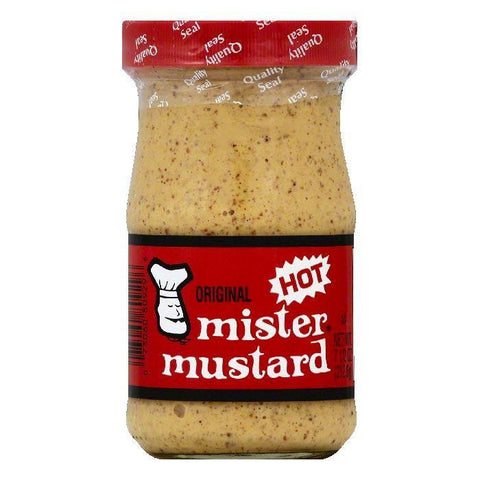 Mister Mustard Hot Original Mustard, 7.5 OZ (Pack of 6)