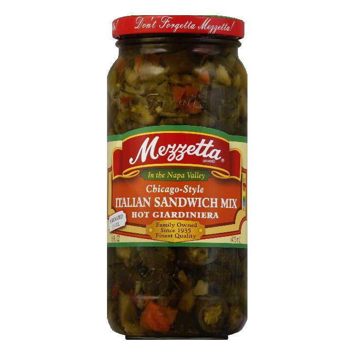 Mezzetta Italian Sandwich Mix Hot, 16 OZ (Pack of 6)