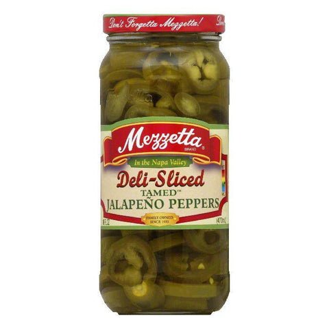 Mezzetta Jalapeno Pepper Sliced, 16 OZ (Pack of 6)