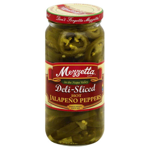 Mezzetta Deli-Sliced Hot Jalapeno Peppers, 16 Oz (Pack of 6)