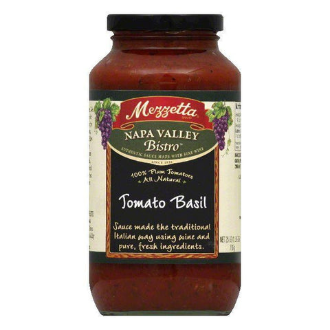 Mezzetta Pasta Sauce Tom Basil, 25 OZ (Pack of 6)