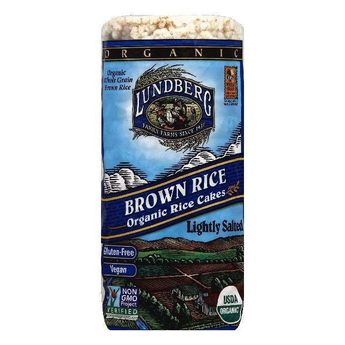 Lundberg Gluten Free Rice Cakes Organic Low Salt Brown, 8.5 OZ (Pack of 6)