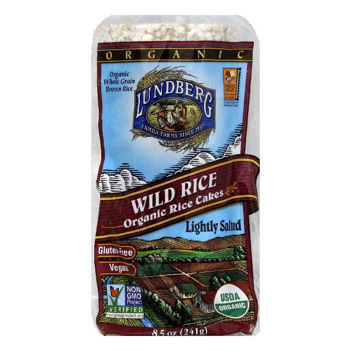 Lundberg Lightly Salted Organic Wild Rice Cake, 8.5 OZ (Pack of 12)