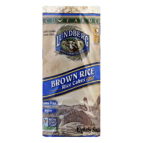 Lundberg Gluten Free Rice Cakes Eco-Farmed Brown, 8.5 OZ (Pack of 12)