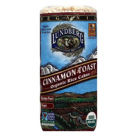 Lundberg Cinnamon Toast Rice Cakes, 9.5 Oz (Pack of 6)