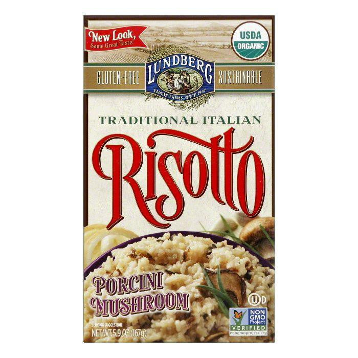 Lundberg Gluten Free Risotto Porcini Mushroom Organic, 5.9 OZ (Pack of 6)