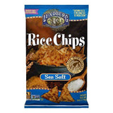 Lundberg Gluten Free Rice Chips Original Sea Salt, 6 OZ (Pack of 12)
