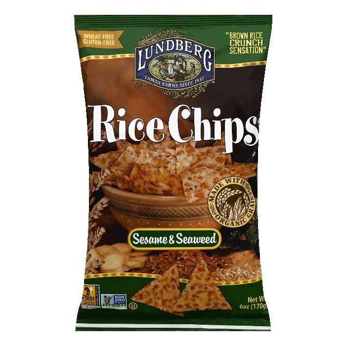 Lundberg Gluten Free Rice Chips Sesame Seaweed, 6 OZ (Pack of 12)