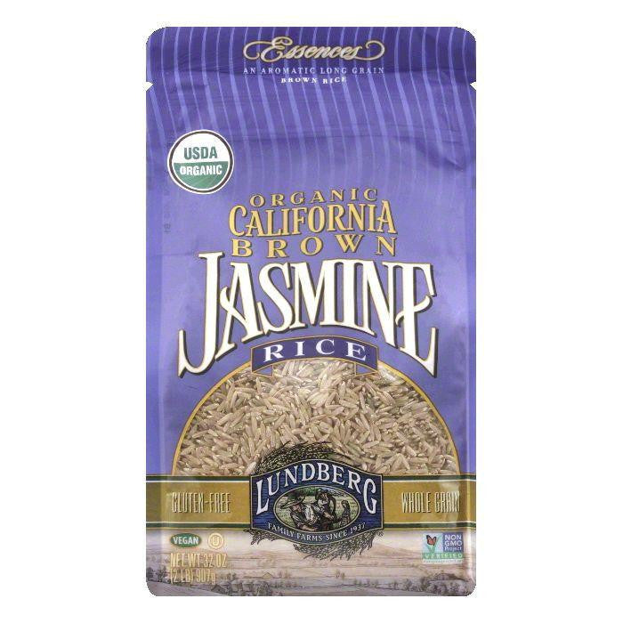 Lundberg Gluten Free Rice Organic Brown Jasmine, 32 OZ (Pack of 6)