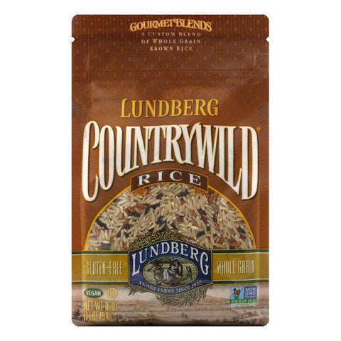 Lundberg Gluten Free Rice Eco-Farmed Countrywild Gourmet Natural Brown Blend, 16 OZ (Pack of 6)