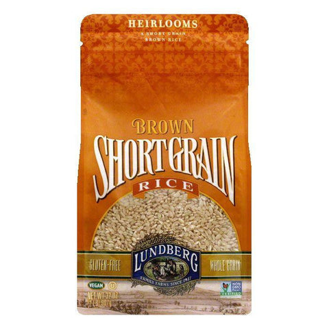 Lundberg Gluten Free Rice Eco-Farmed Short Grain Brown, 32 OZ (Pack of 6)