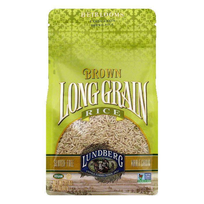 Lundberg Gluten Free Rice Eco-Farmed Long Grain Brown, 32 OZ (Pack of 6)