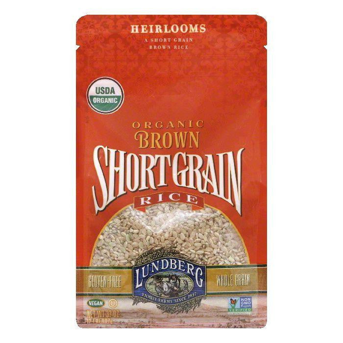 Lundberg Gluten Free Rice Organic Short Grain Brown, 32 OZ (Pack of 6)