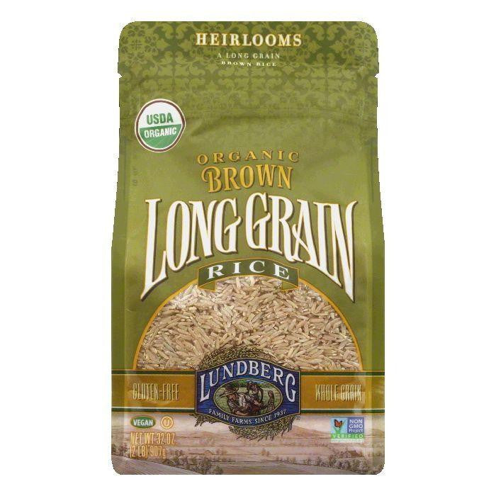Lundberg Gluten Free Rice Organic Long Grain Brown, 32 OZ (Pack of 6)
