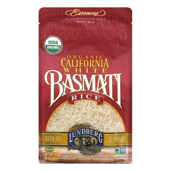 Lundberg Gluten Free Rice Organic California Basmati White, 32 OZ (Pack of 6)
