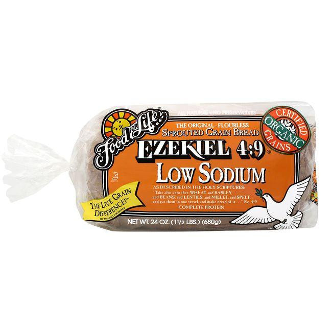 Food For Life Organic Ezekiel 4:9 Low Sodium Sprouted Whole Grain Bread, 24 Oz (Pack of 6)