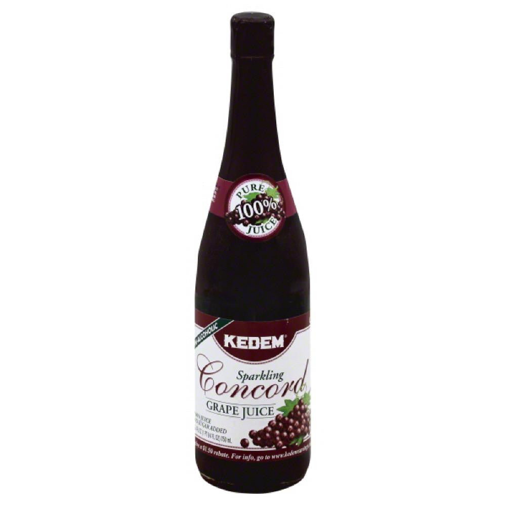 Kedem Concord Grape Sparkling 100% Juice, 25.4 Fo (Pack of 12)