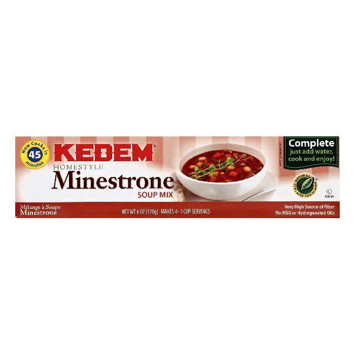 Kedem Minestrone Homestyle Soup Mix, 6 OZ (Pack of 24)