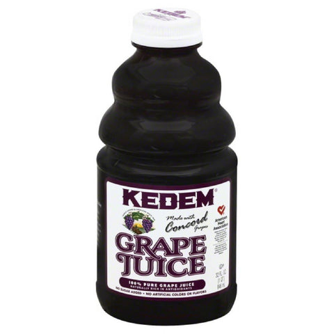 Kedem Grape Pure 100% Juice, 32 Fo (Pack of 12)
